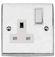 Socket Switched Single Plain Plate