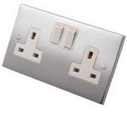 Socket Switched Double Plain Plate