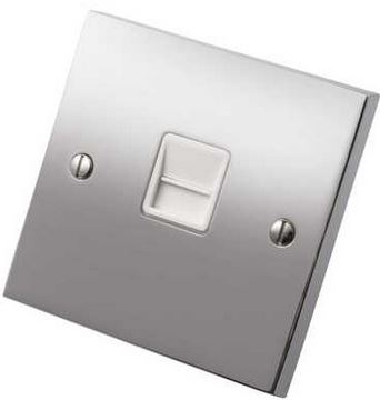 Socket Telephone Master 1Gang Plain Plate