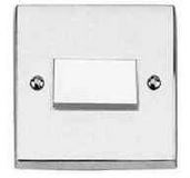 FAN ISOLATOR SWITCH CHROME/WHI INS