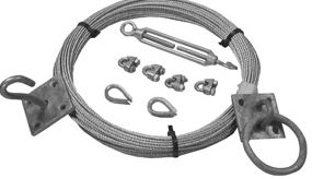 CATINARY WIRE KIT C/W HANGERS AND FIXINGS