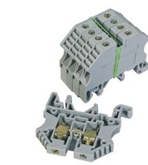 DIN RAIL TERMINAL 2.5mm GREY STB02