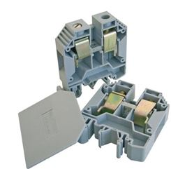 DIN RAIL TERMINAL 35mm MAX GREY