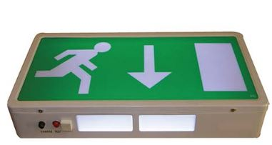 *EXIT BOX LED M3 SINGLE SIDED