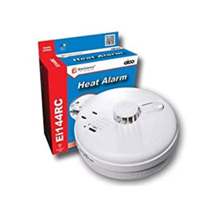 HEAT DETECTOR MAINS WITH BATTERY