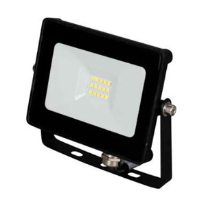FLOODLIGHT LED 10W BLACK 4000K