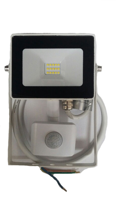 FLOODLIGHT LED WITH PIR 10W WHITE