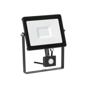FLOODLIGHT LED WITH PIR 30W BLACK