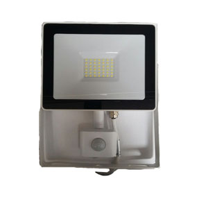 FLOODLIGHT LED WITH PIR 30W WHITE