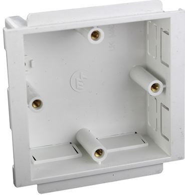 TRUNKING BOX 1GANG WHITE PVC