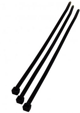 100X2.5mm BLACK CABLE TIES