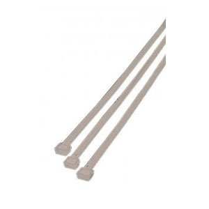 100X2.5mm WHITE CABLE TIES