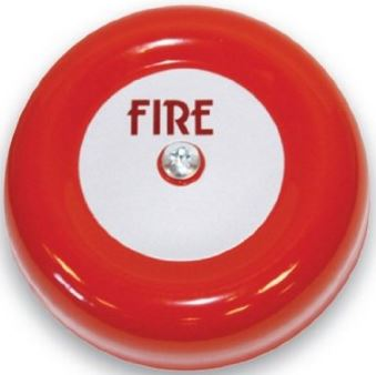 FIRE ALARM BELL RED 6INCH 24V 92DB