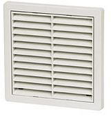 FIXED GRILLE WHITE WITH FLY SCREEN 4904WH