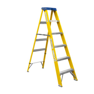 STEP LADDER 10 TREAD FIBRE GLASS