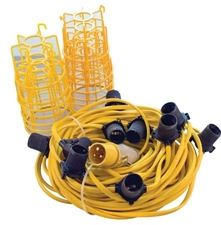 25M BC- FESTOON KIT C/W CAGE   LAMPS