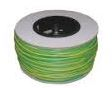 SLEEVING GREEN YELLOW 4MM ON DRUM
