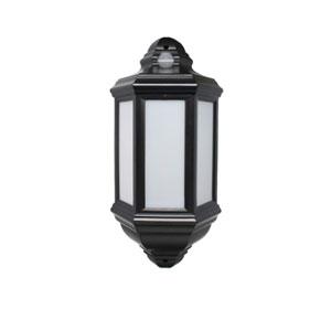 HALF LANTERN PIR BLACK LED 7WATT
