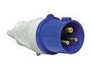 16A BLUE PLUG 230V 2PE