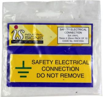 PK10 SAFETY ELECTRICAL CONNECTION