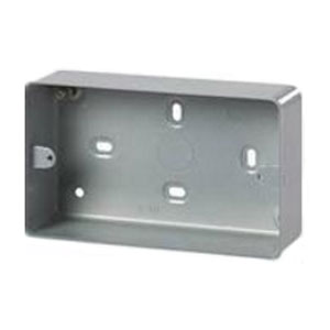 2 GANG METAL CLAD SURFACE BOX