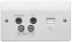 2 X TV 1XSAT FM BT PLATE