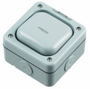 PRESS SWITCH GREY IP66