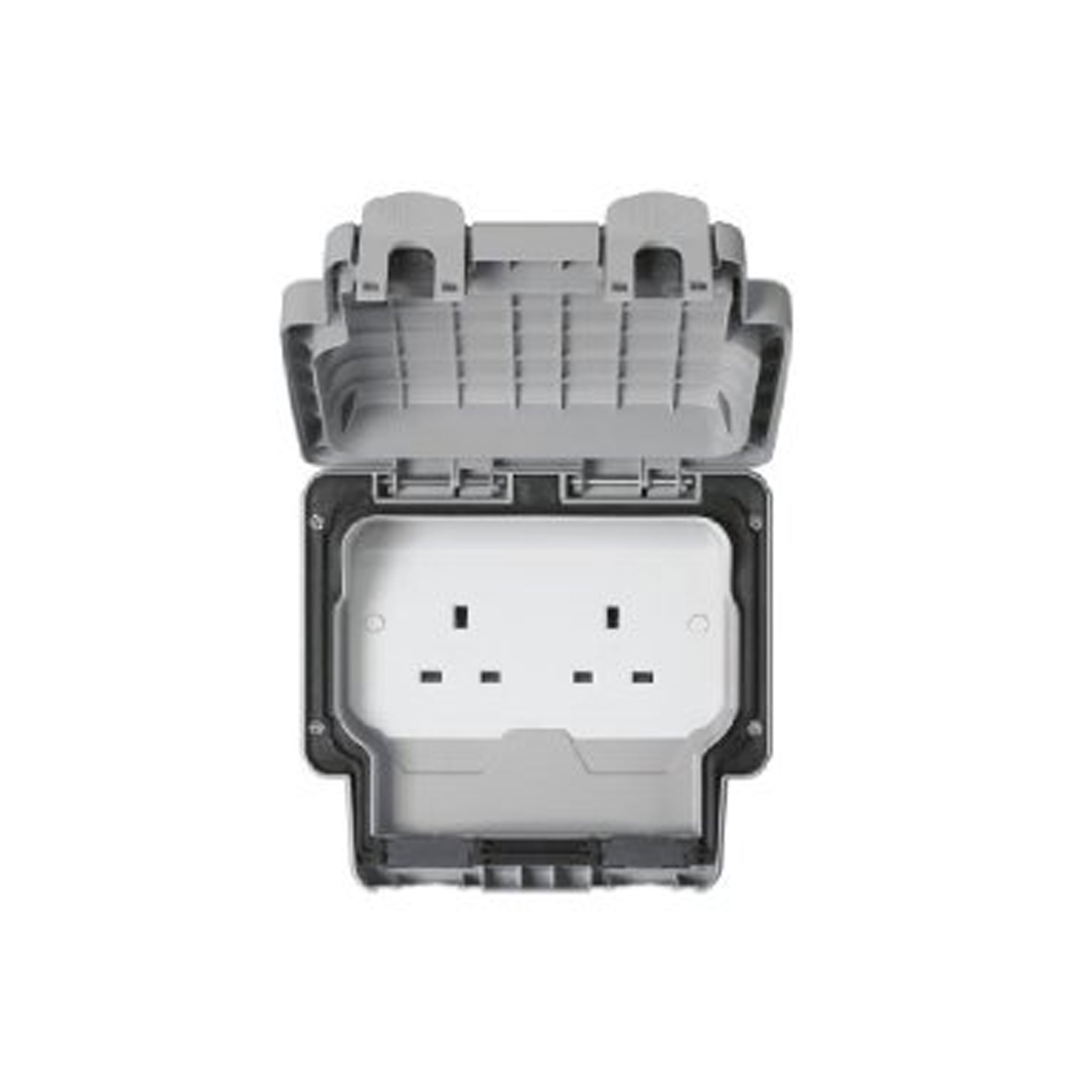 IP66 SOCKET 2GANG UNSWITCHED