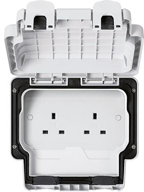 2G UNSWITCHED SOCKET IP56