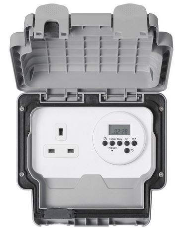 IP66 SOCKET 1GANG C/W TIMER