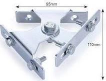 TWIN ADJUSTABLE WALL BRACKET