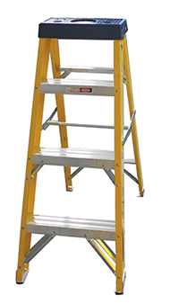 STEP LADDER 3TREAD FIBRE GLASS YELLOW