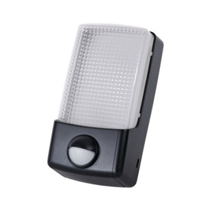 PIR BULKHEAD BLACK - 9WATT LED