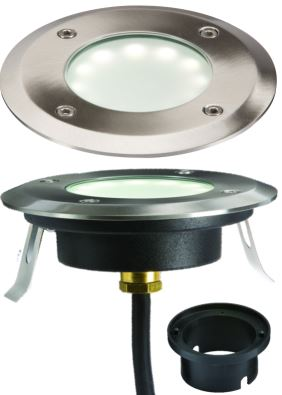 LED GROUNDLIGHT 1.2W WHI IP67