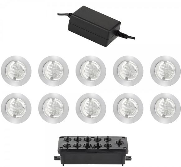 10 X 30MM ROUND WHI LED KIT IP44