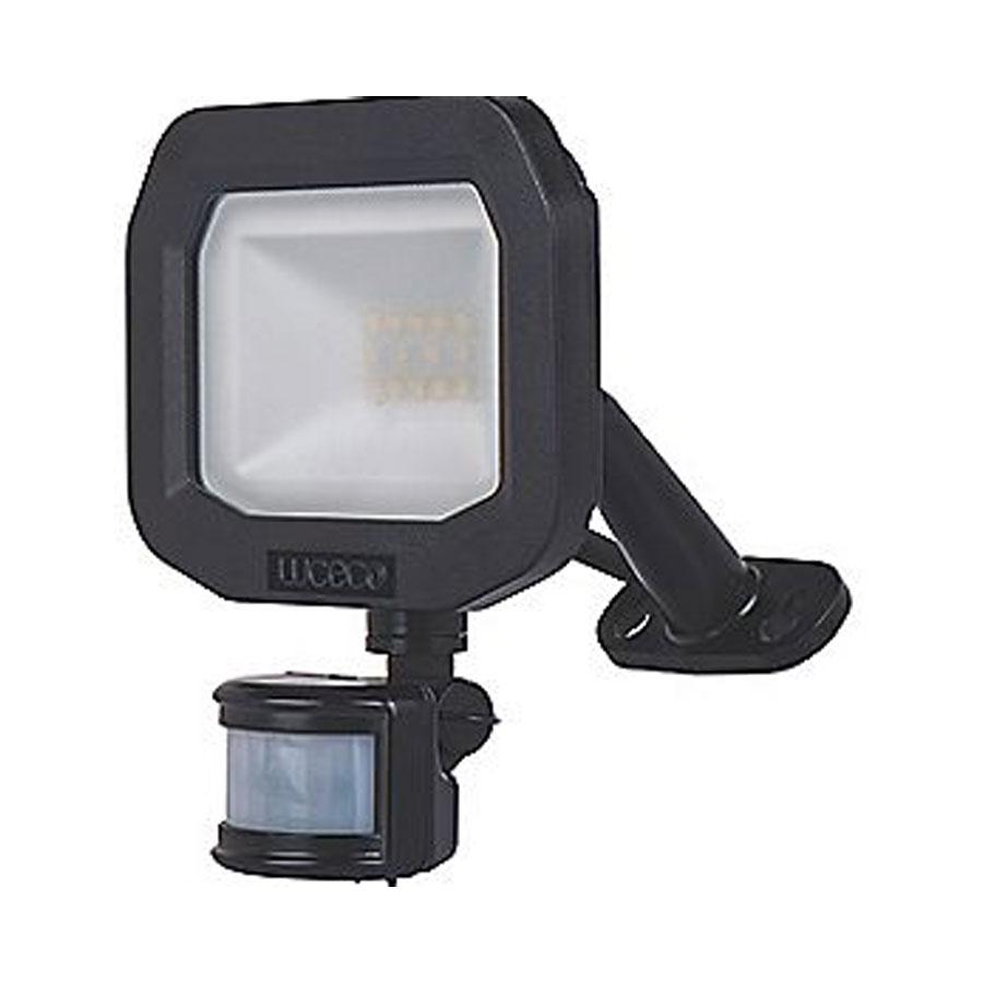 FLOODLIGHT LED WITH PIR 10WATT BLACK 5K