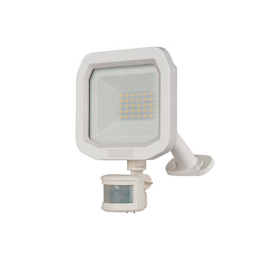FLOODLIGHT LED WITH PIR 10WATT WHITE 5K