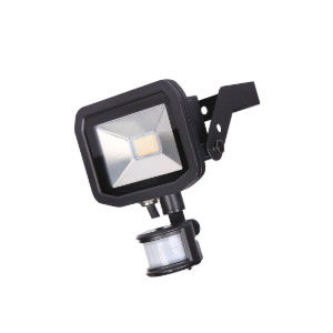 FLOODLIGHT LED C/W PIR 15WATT BLACK 5K