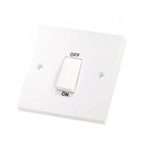 COOKER SWITCH 45A WHI ROCKER