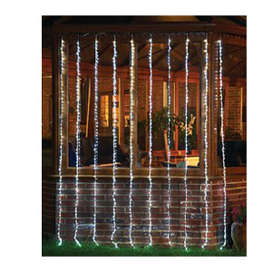 LED WATERFALL CURTAIN WHITE