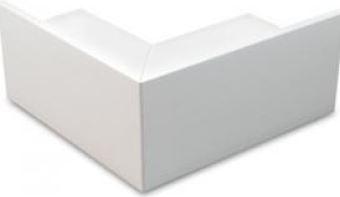 3X3 EXTERNAL BEND PVC WHITE