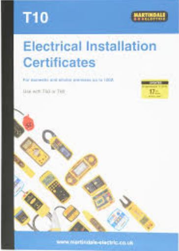 ELECTRICAL INSTAL. CERT BOOK UPTO100A
