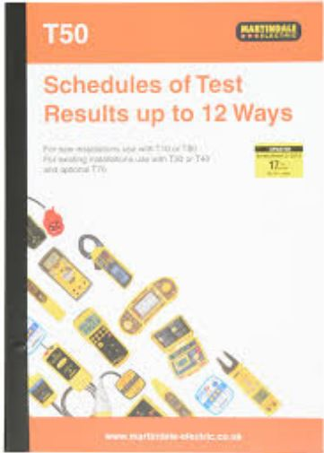 SCHEDULE OF TEST RESULTS  UPTO 12WAY