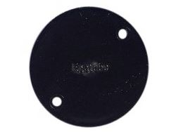 BOX LID CIRCULAR PVC BLACK