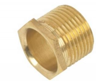 BUSH MALE LONG 20mm BRASS