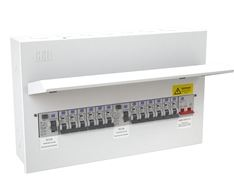 CONSUMER UNIT 12WAY METAL 5+5+2 SPLIT