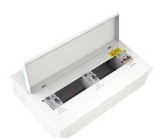 CONSUMER UNIT 12WAY METAL 6+6 SPLIT