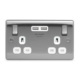 SOCKET 2GANG SWITCHED WITH USB