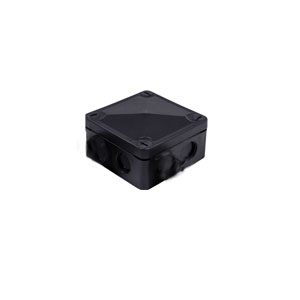 CONNECTION BOX 85X85X50mm PVC BOX BLK
