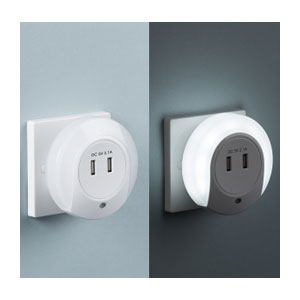NIGHT LIGHT LED C/W 2XUSB PORTS